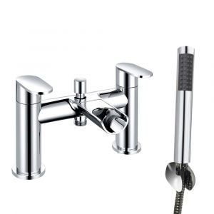 Tolmer Modern Waterfall Bath Shower Mixer Tap with Hand Shower - Chrome