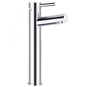 Dalaman Modern High Rise Basin Mixer Tap - Chrome