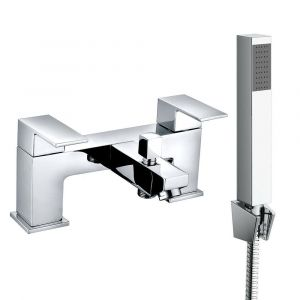 Alban Modern Bath Shower Mixer Tap with Hand Shower - Chrome