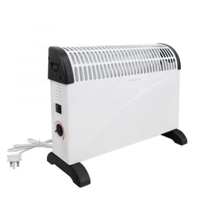 Hamar Freestanding Electric Convector Heater Gloss White thermostat 2000W