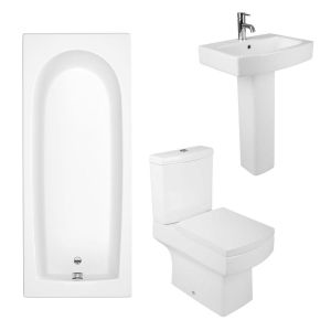 Boston II Bathroom Suite with with 1500mm Bath