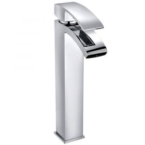 Camden Modern High Rise Basin Mixer Tap - Chrome