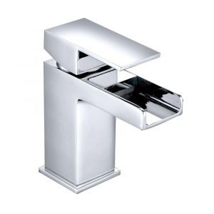 Edessa Modern Waterfall Cloakroom Mono Basin Mixer Tap - Chrome