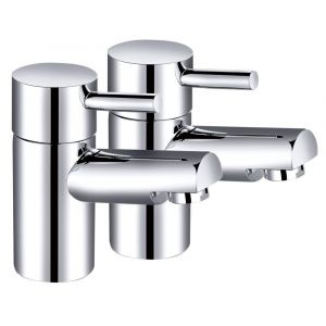 Dalaman Modern Basin Pillar Taps - Chrome