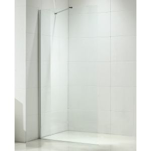 Aquariss 900mm Wet Room Shower Panel with 8mm Easy Clean Glass