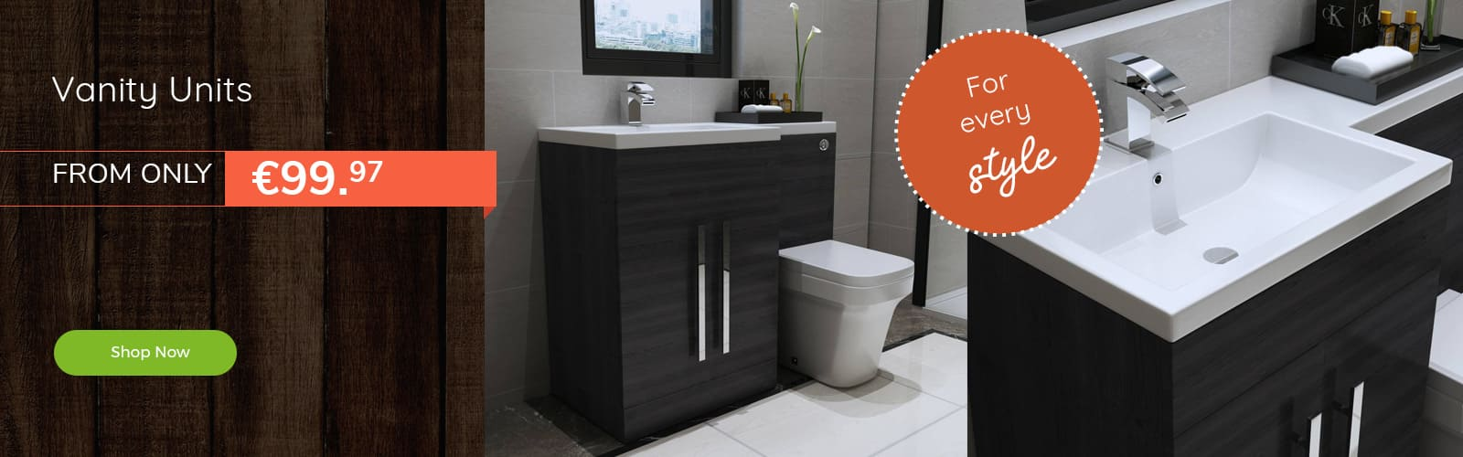 Vanity units from €99.97